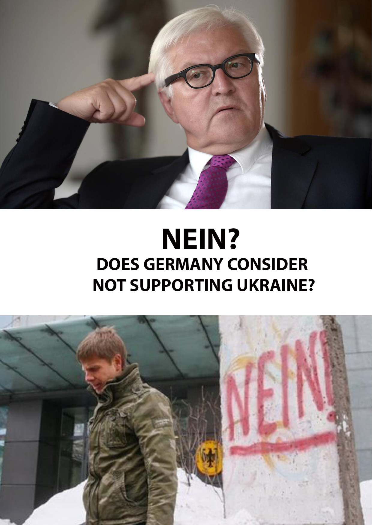 NEIN? DOES GERMANY CONSIDER NOT SUPPORTING UKRAINE?